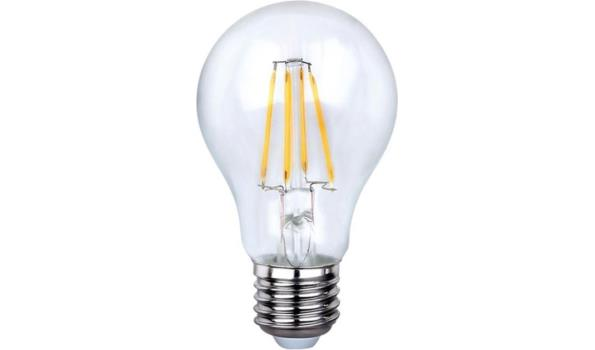 LED lamp E27, 4 watt, filament, warmwit, 5x