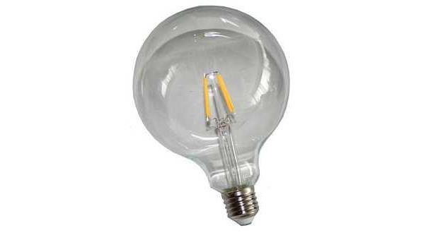 LED lamp E27, 6 watt, filament, globe, warmwit, 10x