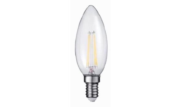 LED lamp E27, 2 watt, filament, warmwit, 30x