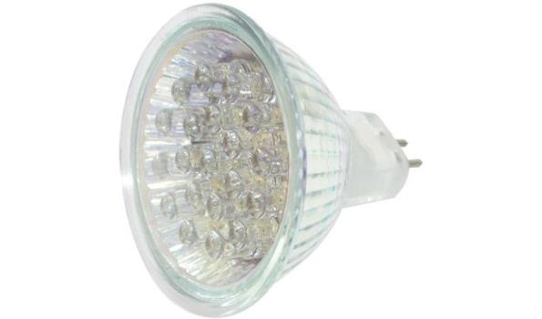LED lamp MR16, 1,2 watt, warmwit, 30x