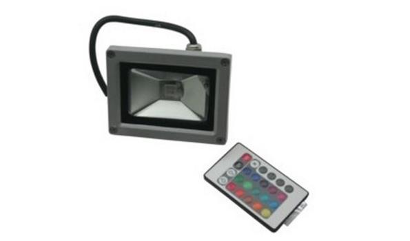 LED straler, wit en RGB, met afstandsbediening, 4x
