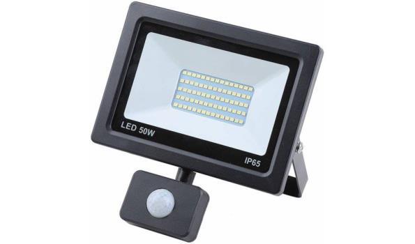LED straler, 50 watt met bewegingsmelder, 10x