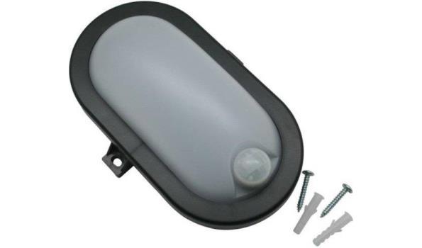 Bulleye LED, met bewegingsmelder, zwart, 16x