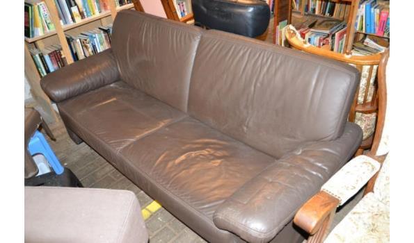 Bankstel - kleur bruin (skai) leder