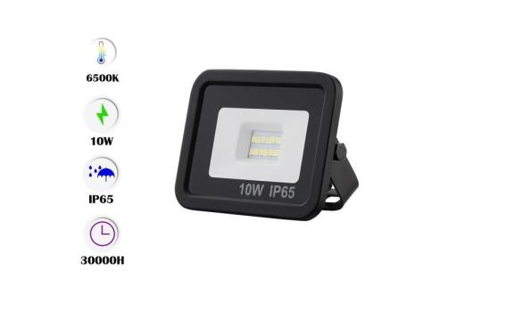 60 x Venus 10w LED Breedstraler - waterdicht IP65 - 6500K koud wit.
