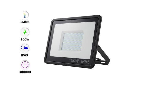 5 x Venus 100w LED Breedstraler - waterdicht IP65 - 6500K koud wit.