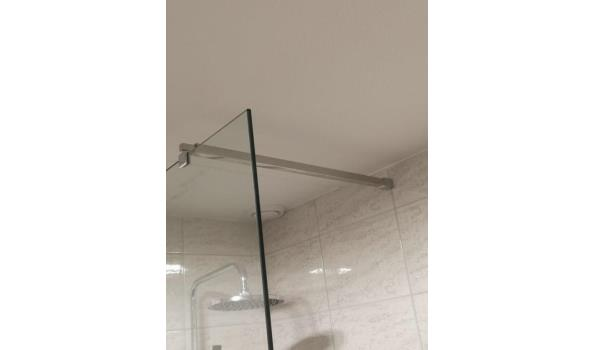 Optima douchewand van helder glas 10mm (d)