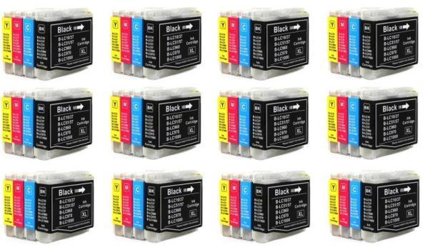 Printer Cartridge LC-970/LC-1000 Multipack 4 stuks voor Brother, 12x