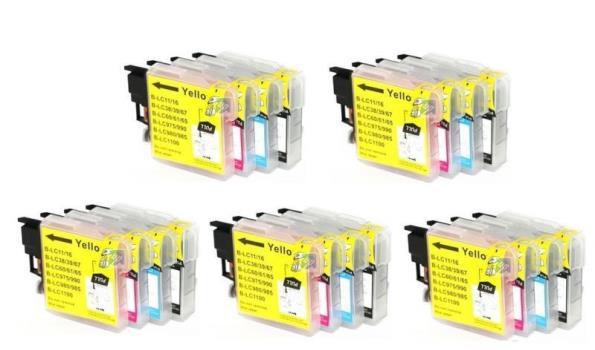 Printer Cartridge LC-9800/LC-985/LC-1100 Multipack 4 stuks voor Brother, 5x