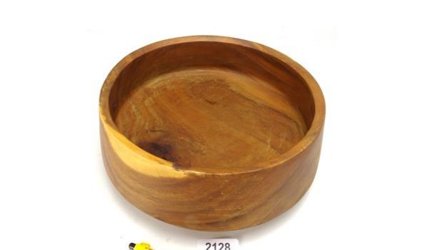 Grote houten fruitschaal