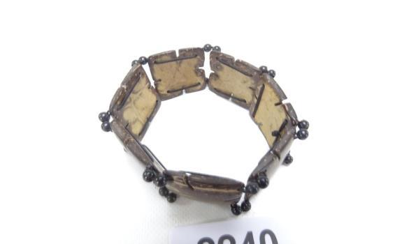 Houten armband (elastiek)