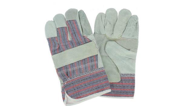 Werkhandschoenen Rundsplitleder, 12 paar