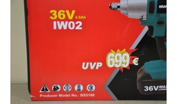 Kraft Pro+ accu slagmoersleutel type XWT002