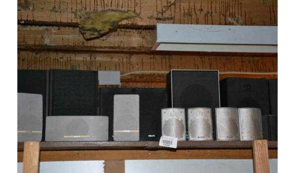 Partij luidsprekers, diverse soorten en merken o.a. Sony