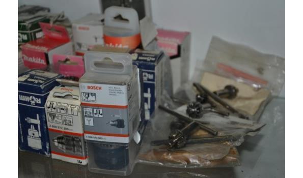 Partij boormachine-onderdelen t.b.v. diverse merken o.a. Makita & Bosch