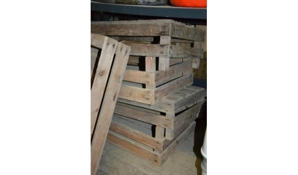 Partij houten kisten