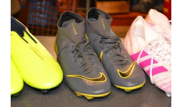Partij voetbalschoenen, diverse merken o.a. Nike & Adidas