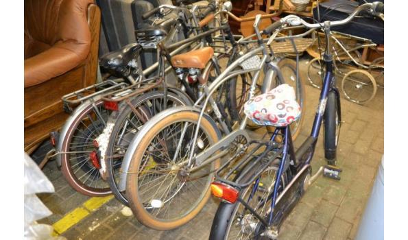 Partij diverse fietsen & step