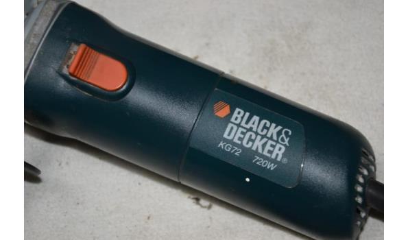 Black & Decker elektrische haakse slijper type KG72