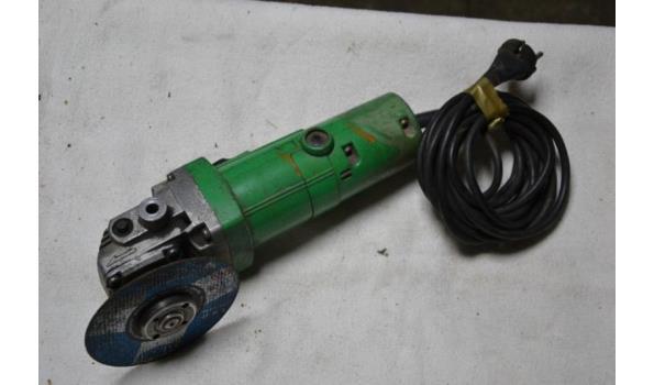 Hitachi elektrische haakse slijper