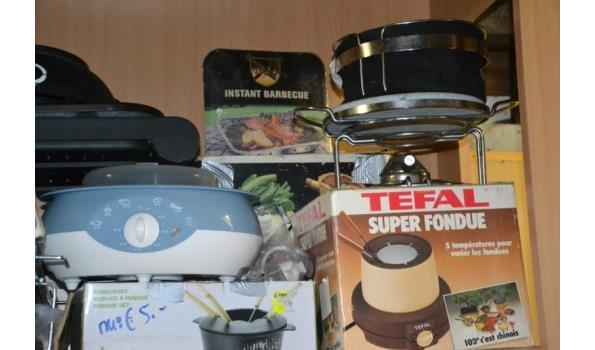 Partij fondue sets, diverse soorten en merken o.a. Tefal