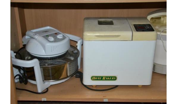Partij huishoudelijke apparaten o.a. broodbakmachines