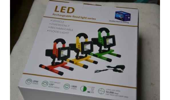 Oplaadbare LED bouwlamp
