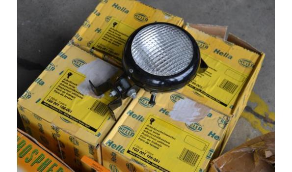 (werk) lampen, opsteek zwaailamp, autospiegel, midlock synchroon tester/meter