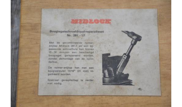 Midlock bougiegatschroefdraad-reparatieset
