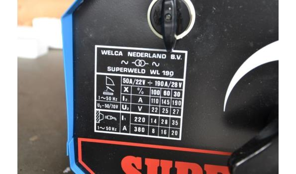 Lasapparaat Superweld, type WL 190, 220/380 V