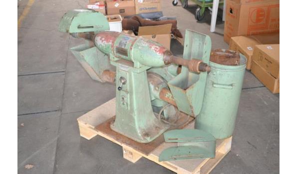 Polijst/ schuurmachine met afzuiger, 380/400 volt