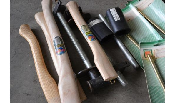 Verschillende hamer-/bijlsteel, deurhand grepen, stelenbescherming, e.d.