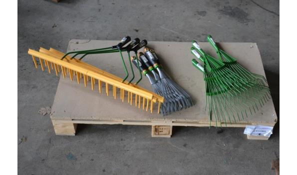 Tuin/ Hooi harken, verschillende modellen.