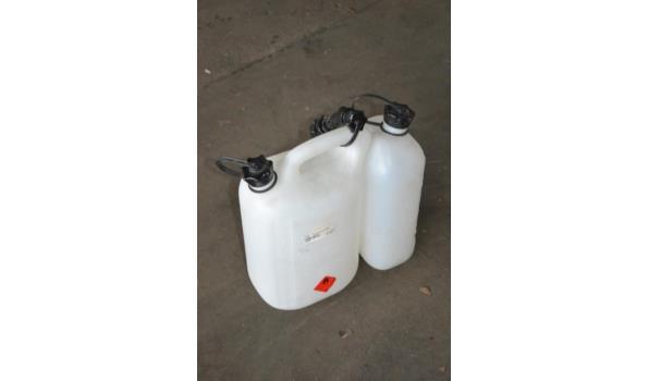 Dubbele tank, tbv ketting-/bosmaaier brandstof/smeerolie