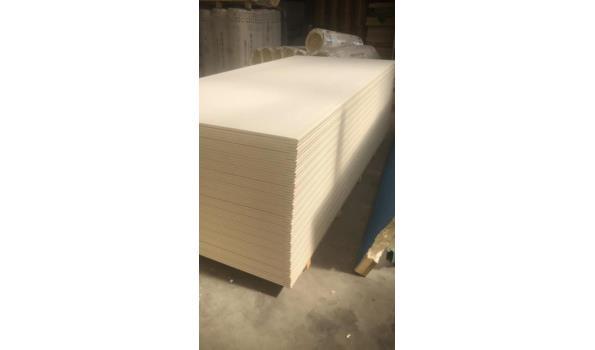 KNAUF gipsplaten 260x120cmx 12.5mm dikte - 3.12m2 per plaat - totaal 64 platen (1 pallet)