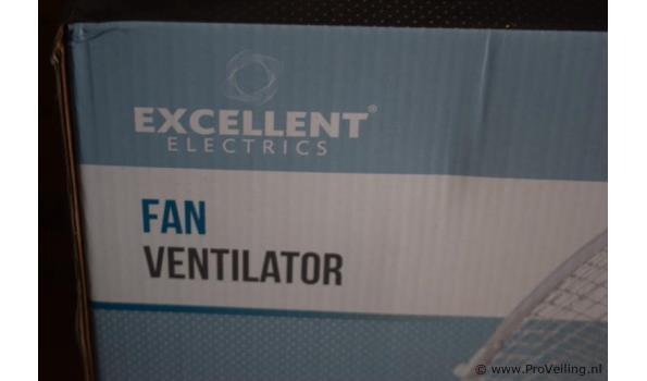 Excellent ventilator op standaard - aantal 2 stuks