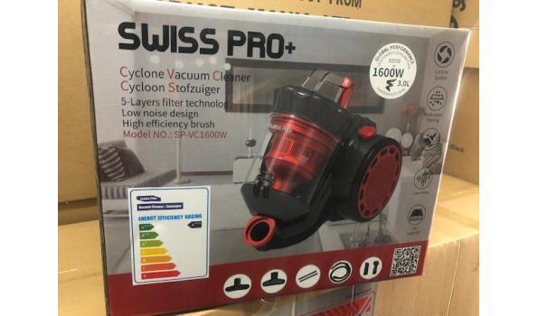 Swiss pro+ 1600w stofzuiger zonder zak