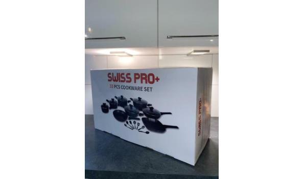 Swiss Pro + Pannenset - 12 delig - RVS