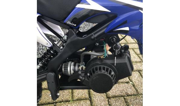 Minicrosser Mini dirt bike 2takt 49c blauw zwart