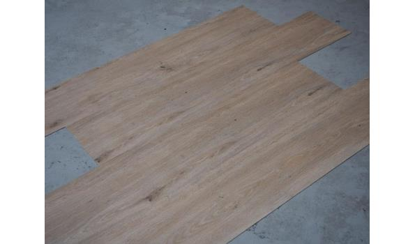 PVC Vloer, 10,1 m2, geborsteld eiken
