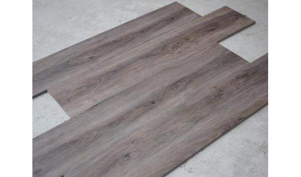PVC Vloer, 40,6 m2, donker eiken