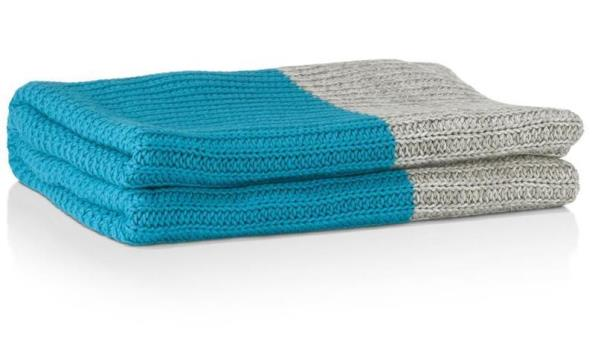 Coco Maison vloerkleed the cut plaid blauw grijs t.w.v. € 99,-