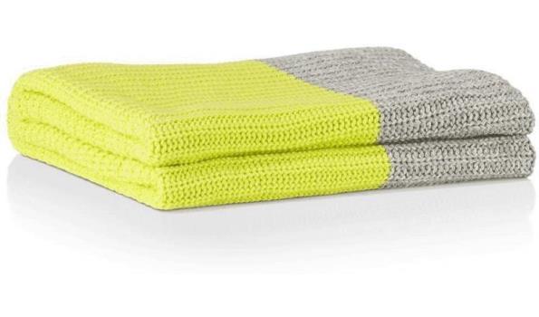 Coco Maison vloerkleed the cut plaid geel grijs t.w.v. € 99,-