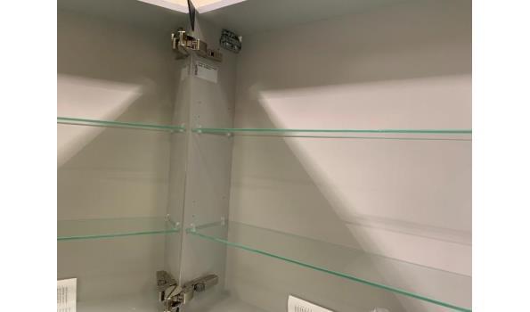 Design spiegelkast inclusief handige dubbelzijdige spiegeldeuren 120x70x17,5cm