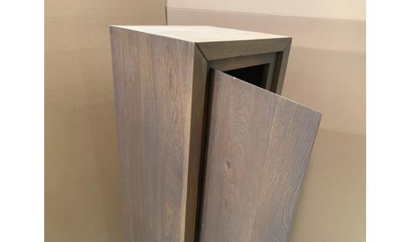 Massief houten hang kolom kast 130x40x35cm