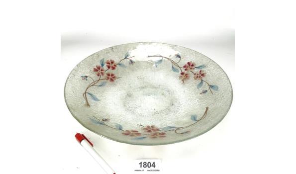 Handbeschilderde glazen schaal