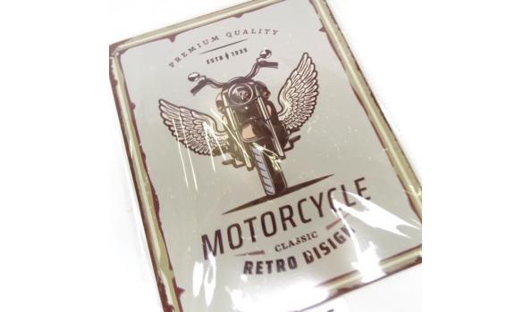 Metalen bord motorcycle