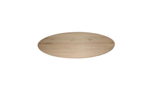 Ovale eiken eettafel 260x100 cm