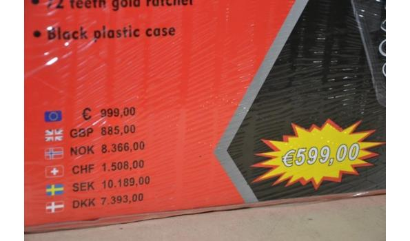 Kraft Pro steek/ring sleutelset in koffer, 13dlg