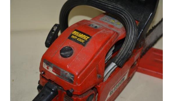 Reliance benzine kettingzaag type WP4500
